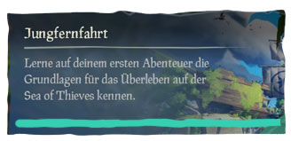 Sea of Thieves Jungfernfahrt Guide