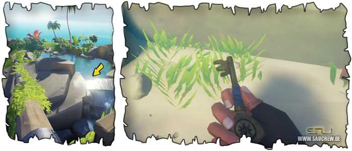 Der Schlüssel zum Geheimversteck des Piratenlords