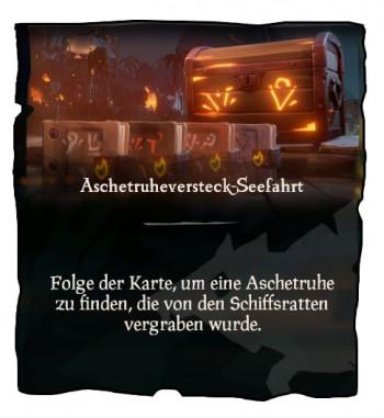 Sea of Thieves Aschetruhenversteck Mission