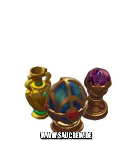 Juwelenbesetzte Relikte