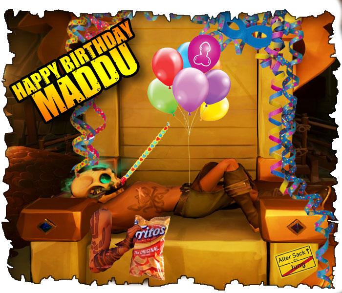 saucrew feiert Maddu'S Geburtstag